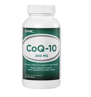免运费!包美国直邮 GNC辅酶Q10软胶囊200mg 60粒保护心脏