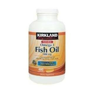 Kirkland fish oil深海鱼油1000mg Omega-3 300mg 400粒