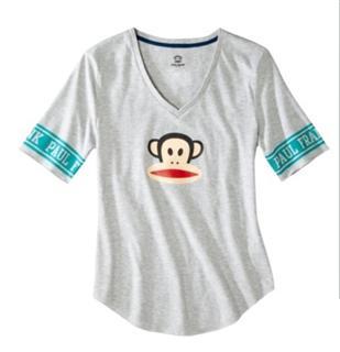 paul frank 大嘴猴 灰色猴头T恤 XS, S, M 三码