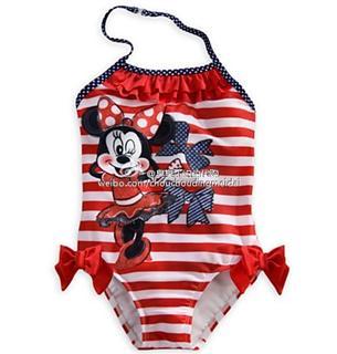 迪斯尼小女孩泳衣 连体的(拍下备注年龄)