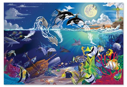 (美国直邮)melissadoug海底世界乐园纸板拼图200片