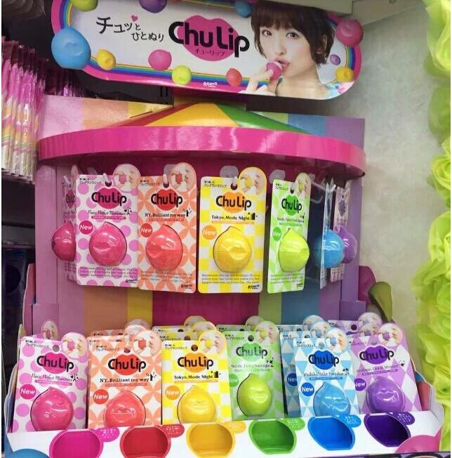 日本新发售rohto乐敦【chu lip】润唇膏 容器独特球形宽面设计