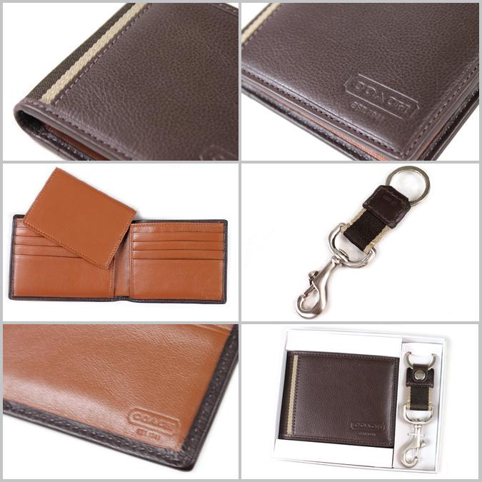 父亲节礼物:coach全皮钱包礼盒送钥匙扣61705